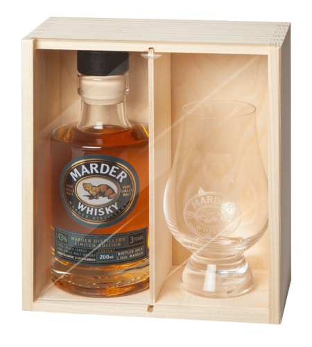 Marder Single Malt Whisky + Whisky Glas